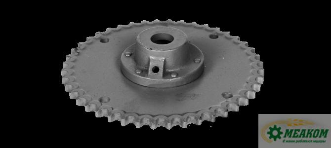 Звездочка  34-6-2-1-1 со ступицей предхранительного механизма бункера  (z=44, t=19,05)