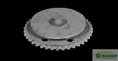 Звездочка 3518050-12470 предохранительного механизма шнека жатки(z=40 t=25,4) в сборе со втулкой