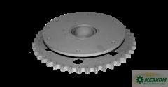 Звездочка 3518050-12470 предохранительного устройства шнека жатки(z=40 t=25,4) в сборе со втулкой