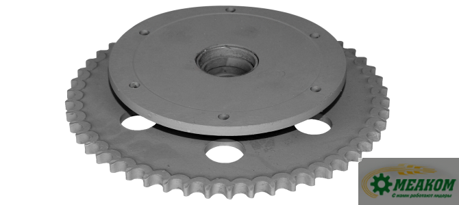 Звездочка РСМ-10.08.01.690 механизма предохранительного шнека платформы подборщика (z=50 t=19,05) в сборе со втулкой